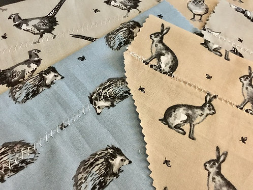 Slip on the Collar Dog Bandanas, Slide on the Collar Dog Bandanas, Dog Bandanas, Grooming Bandanas, Animals, Fox, Hare, Bird