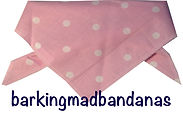Pink Polk Dot Dog Bandana, dog clothing, dog bandanas uk