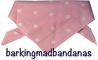 Dog Clothing UK, Pink Polka Dot Dog Bandana, Dog Clothing UK, Dog Bandanas, UK All Dog Breeds