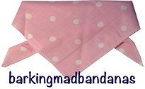 Dog Clothing, Pink Polka Dot dog bandana, Dog Breeds Dog gift, dog clothing, dog accessories