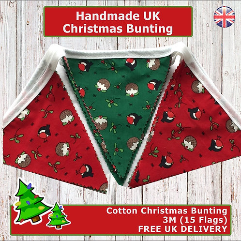 Christmas Bunting, Handmade Christmas Bunting, Christmas Decor, Christmas Decorations 2020, Handmade Christmas Bunting, UK
