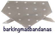 Putty Polka Dot Dog Bandana, UK dog bandanas, dog birthday gifts