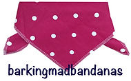 Pink Spots Dog Bandana, UK dog bandanas, dog birthday, Clothing