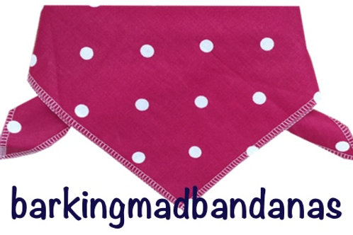 Pink Dog Bandana, Dog Grooming Bandanas, Neck Ties, Neck scarf