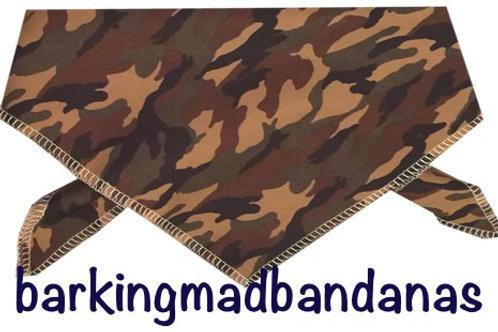 Army Dog Bandanas, Camouflage Dog Clothing, Camouflage Army dog accessories, Luxury Dog Bandanas