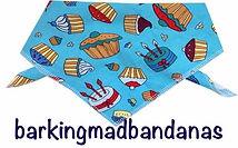 Cupcake Dog Bandana, Cotton, Dog Clothing, Dog Accessories, Dog Gifts
