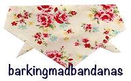 Floral ,Dog Bandana, UK Dog Bandanas, Floral Dog Bandanas, Dog Clothing