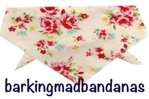 Dog Bandana UK, Dog Bandanas UK, Dog Neckerchief UK, Dog Bandana Tie on, Dog Neckerchief, Floral Bandanas UK, Cheap Bandanas