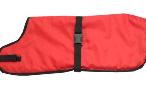 Red Waterproof Dog Coats, Made to measure dog coats, Bespoke dog coats, UK Clothes