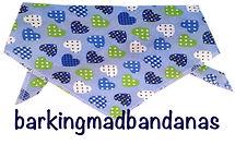 Blue Hearts Dog Neck Tie, Cheap Dog Bandanas, Dog Bandanas, UK, Dog Clothing
