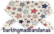 Multi Star Dog Bandana, Cotton dog bandana, stars, dog clothing, dogs, uk