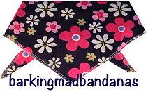 Daisy print dog bandana, Cheap dog bandanas