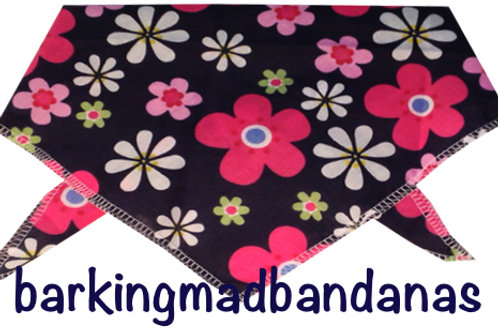 Daisy Dog Bandanas, Neck Ties, Dog Clothing, UK, Handmade, Pug Dog Bandanas, S, M, L, Girl Bandanas UK