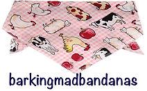 Farm yard dog neck tie, dog bandanas, trade dog bandanas, dog clothing