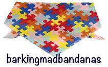 Jigsaw Dog Bandana Dog Ties, Dog Bandanas, Dog Clothing, Trade