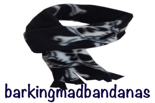 Halloween fleece dog scarf, pirate, costume for dogs, dog clothing, uk