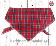 Tartan Dog Bandanas UK, Tartan Dog Bandanas, Royal Steward Red Tartan Dog Bandanas, Dog Bandanas UK, Red Tartan Dog Supplies, Red Tartan Dog Scarves, Tie Style Dog Bandanas, Neckerchief UK