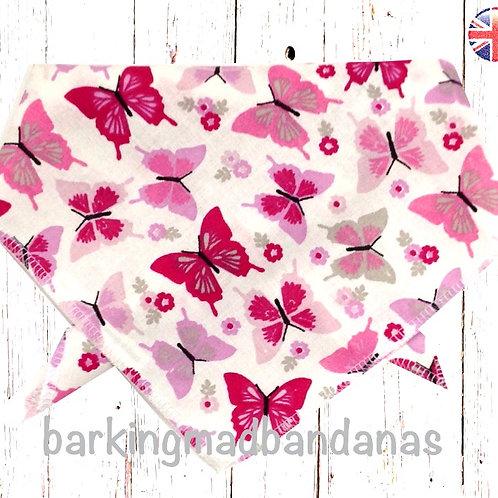 Pink Dog Bandanas, Pink Bandanas UK, Tie on Dog Bandanas, Dog Bandana UK, Bandana Dog UK, Dog Neckerchief, Cheap Dog Bandanas