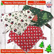 Christmas Dog Bandanas, Deals, Value Packs, Christmas Dogs, Dog Grooming, Dog Walking, Handmade Dog Clothing, UK