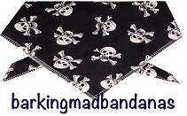 Pirate, Scull & Neck Tie, Dog Bandana, UK Dog Clothing, Cars