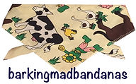 Farmyard Dog Bandana, UK, Dog Clothing, Dog Cheap Bandanas, Dog Gifts, UK