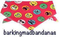 Funny faces dog bandana, Pink, Dog gift, dog clothing, dog accessories