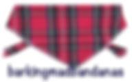 Scotland, Red Tartan Dog Bandana, Dog Clothing, Dog Gifts UK