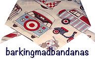 VW Camper, Scooter, Dog Bandana, Neck Scarf, UK Clothing