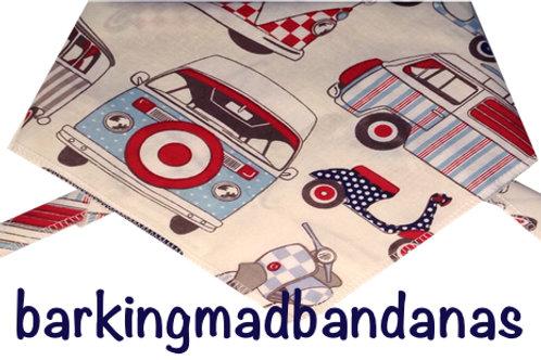 Camper Van Dog Neck Scarf, VBud Campers, UK Dog Clothing, Handmade