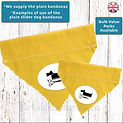 Plain Yellow Dog Bandanas, Plain Black Dog Bandanas UK, Plain Slip on the Collar Dog Bandanas UK, Wholesale Dog Bandanas UK, Plain Dog Bandanas Bulk, Plain Pink Dog Bandanas UK, Plain Bulk Dog Bandanas Promoting