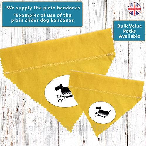 Plain Yellow Cotton Slider Bandanas