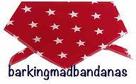 Dar Blue Dog Bandana, Cotton dog bandana, stars, dog clothing, dogs, uk