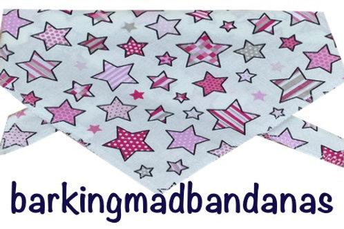 Pink Stars, Pink Bandanas, Pink Neck Ties, Pink Neck Scarf, Dog Grooming