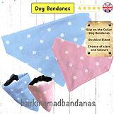 Blue Dog Bandanas, Pink Dog Bandanas, Blue Collar Dog Bandanas, Pink Collar Dog Bandanas UK, Pet Supplies, Dog Grooming, Dog Grooming Supplies, Value Pack Slider Dog Grooming Bandanas, Designer Dog Bandanas, Designer Collar Bandanas UK
