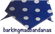 Blue Spot Dog Bandana, UK Dog Bandanas, UK Dog Clothing
