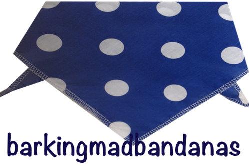 Blue Spot Dog bandanas, value dog bandanas, cheap dog bandanas