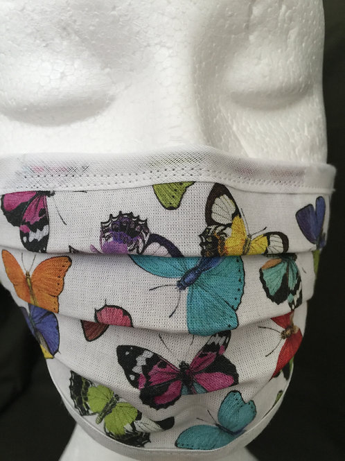 Butterfly Face Mask, Designer Face Mask, Handmade PPE, UK Clothing, Reusable, Washable