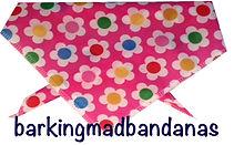 Pink Daisy Dog Neck Bandana Dog Ties, Dog Bandanas, Dog Clothing, Trade