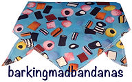 Fun Dog Bandana, Liquorice Dog Bandanas, UK, Dog Gifts, Cheap