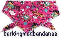 Dog Clothing, Pink Cartoon, Cotton Bandana, Ideal Dog Gift