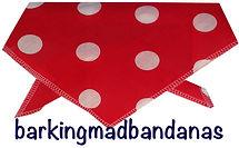 Red Spots Cheap Dog Bandana, Trade Discounts, Dog Bandanas