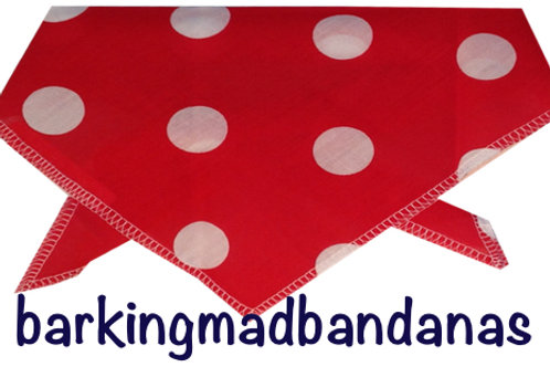Red Spots value bandanas, dog supplies, pet shop, dog accessories