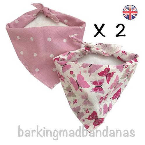 Dog Bandana Deals, Pink Bandanas, Pink Neckerchief Dog Gift, Dog Birthday Deals