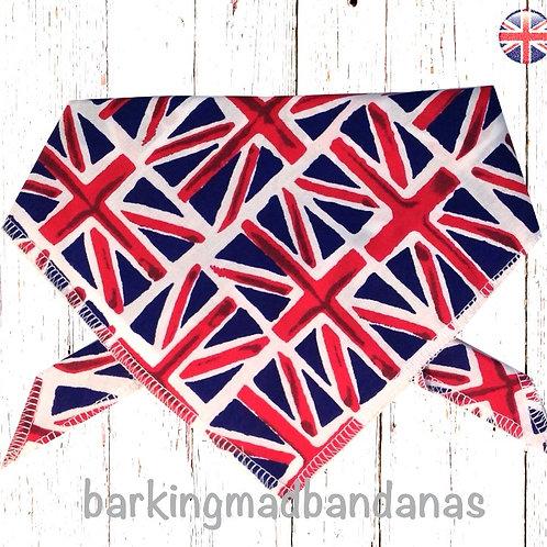 Union Dog Bandana UK, XL Dog Bandanas UK, Blue Dog Bandanas UK, Great Dane Bandanas UK, Funky Dog Bandanas UK, Large