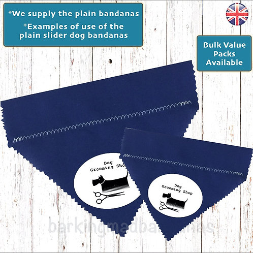 Plain Royal Blue Cotton Slider Bandanas