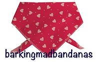 Valentine Dog Bandanas, Hearts, Trade, Wholesale, Dog Grooming, Dog Clothing UK