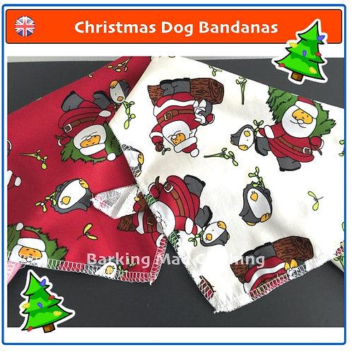 Christmas Dog Bandana, Christmas Bandanas, Christmas Dog Scarves, Dog Scarf, Dog Bandanas, Scarves, Dog Christmas Gifts, UK