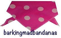 Pink Spots Dog Neck Tie, Cheap Dog Bandanas, Dog Ties, Dog Bandanas, Dog Clothing, Trade