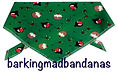 Christmas Robins, Handmade Dog Bandanas, Dog Scarves, DOg Clothing, UK, DOg Clothes
