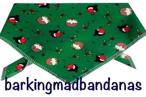 Green Christmas Dog Bandanas, Christmas Dog Outfits, Christmas Dog Clothing UK